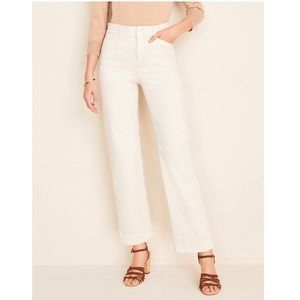 Ann Taylor Tall Easy Straight Jeans White Mirage